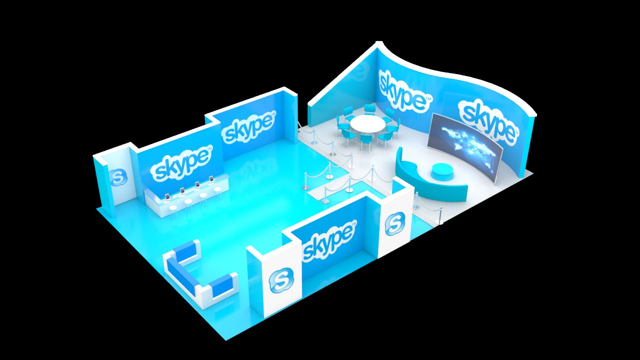 3d trade booth v1