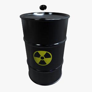 barrel radioactive 3d max