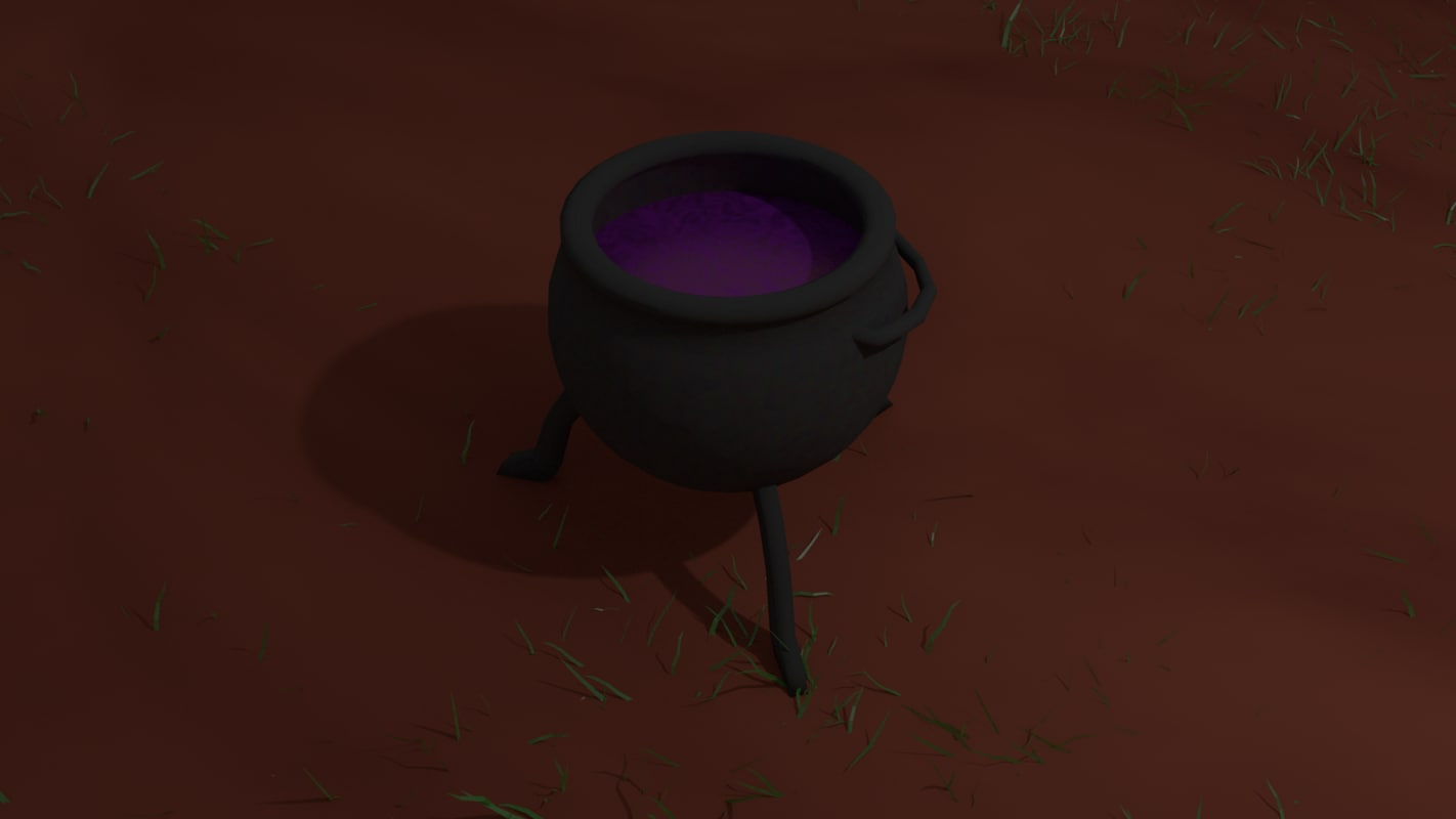 3d model of witches cauldron