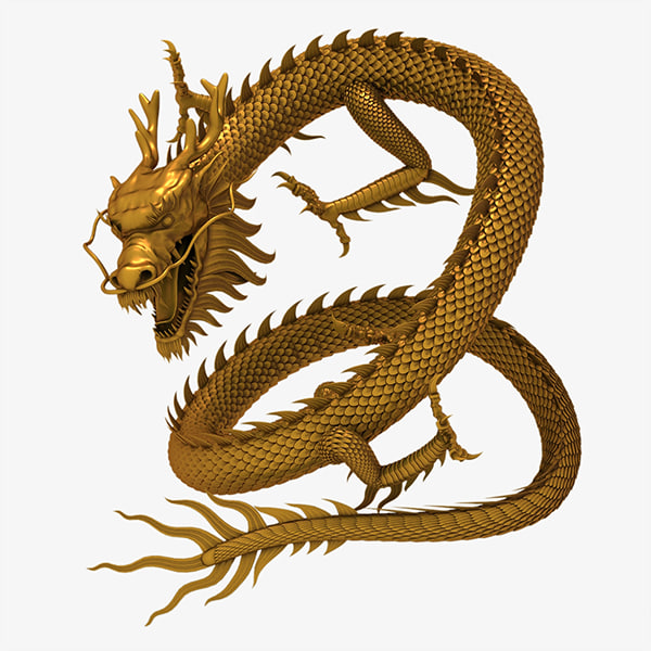 3d model chinese dragon