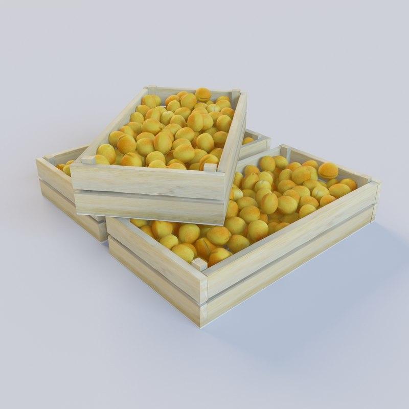 ripe apricots juicy 3d max