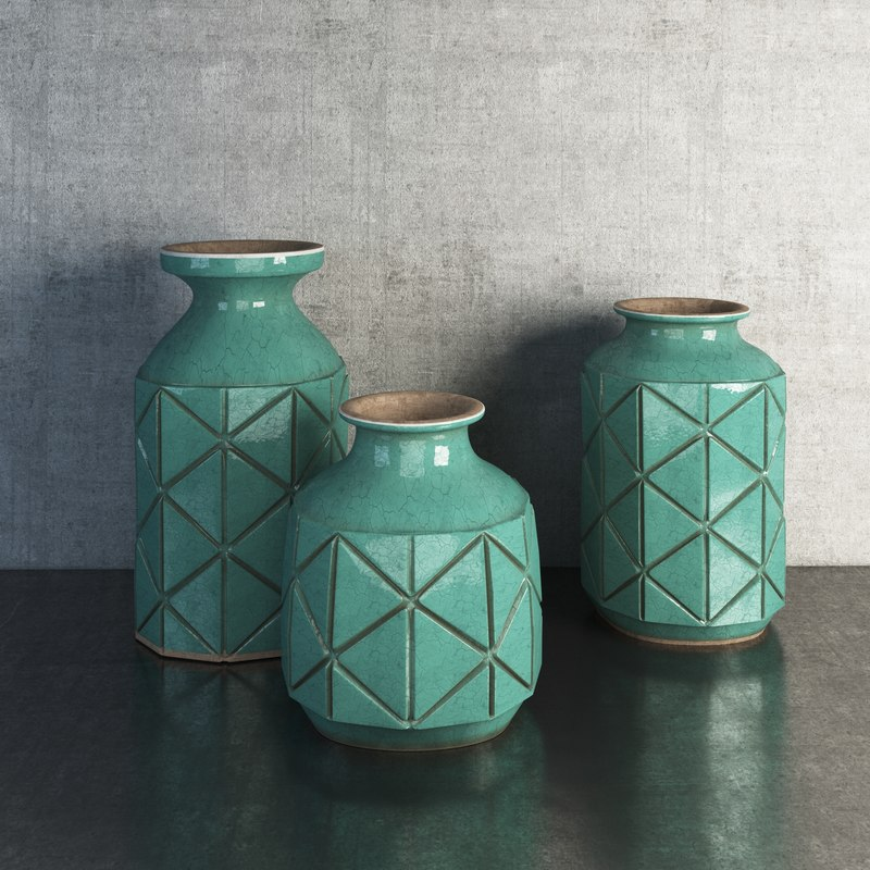 avron ceramic vases 3d max
