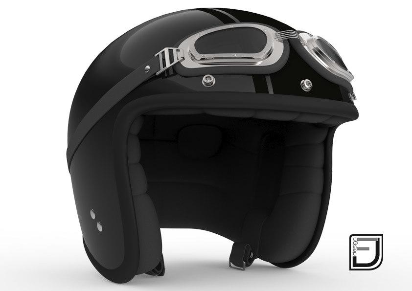 3dsmax black r helmet h09