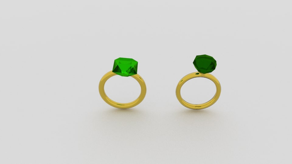 emerald gold ring 3d 3ds