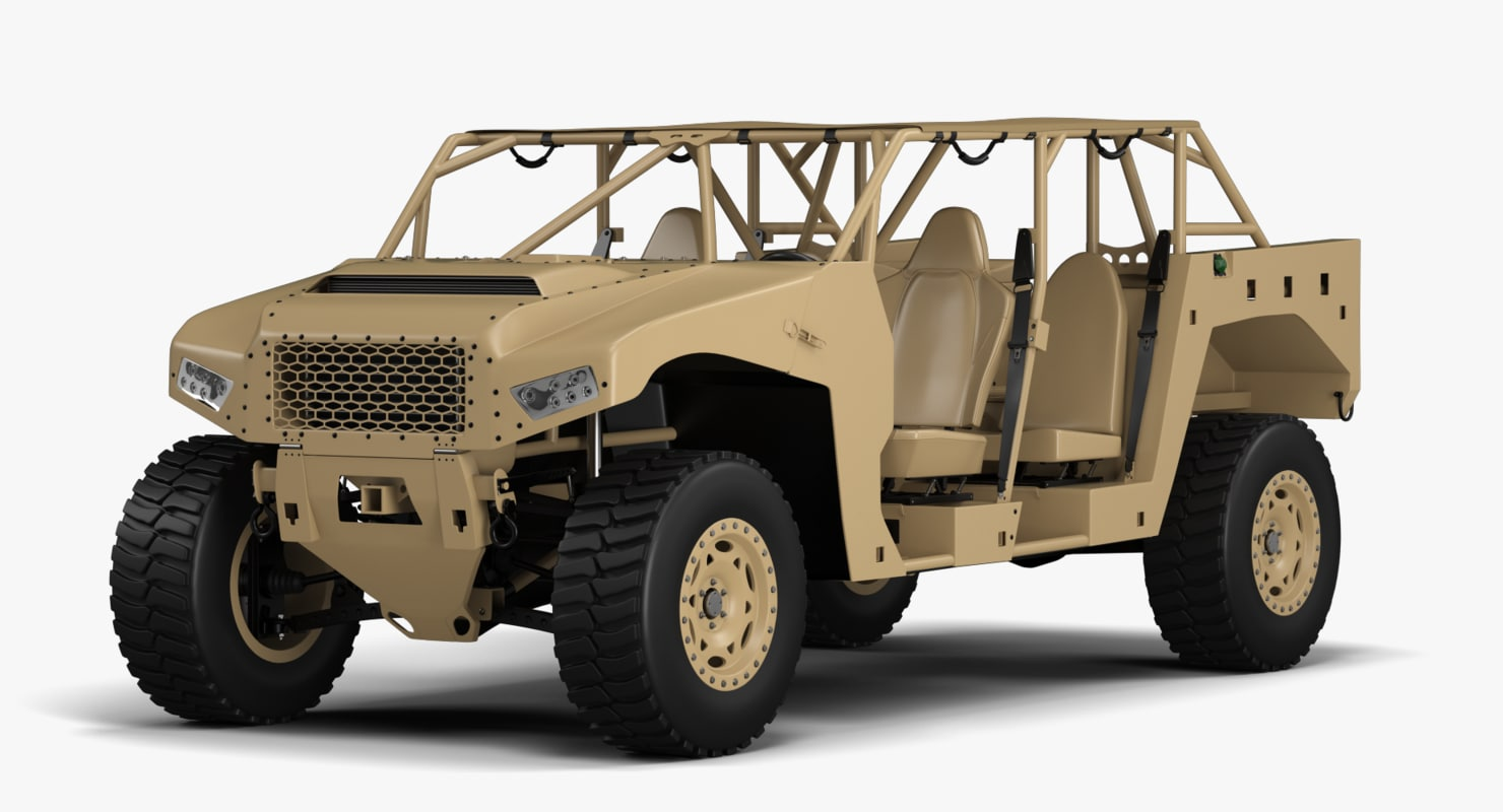 military vehicle polaris 3d max