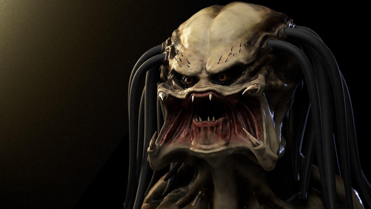 3d head predator model