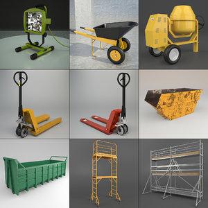 set industrial 3d model