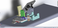 3d model of solidworks industrial screwing machine