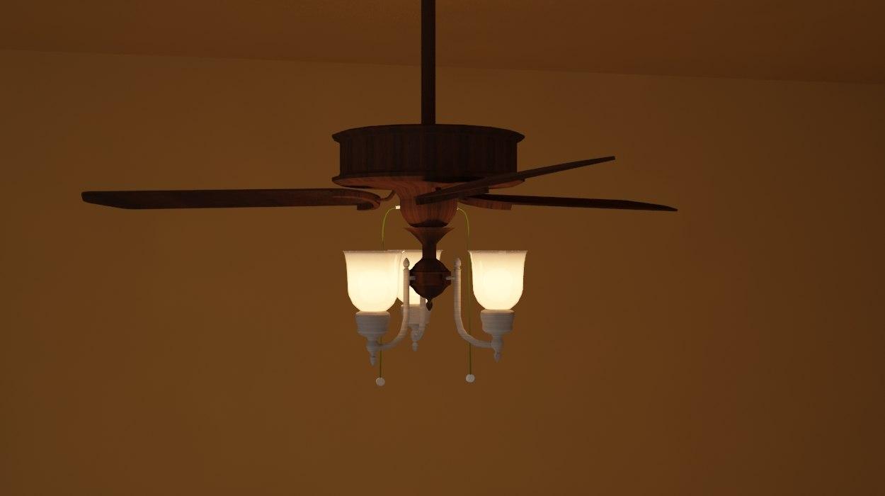 3d chandelier - lamp model