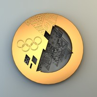 3d max olympic medal