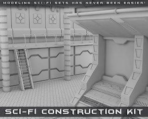 sci-fi construction kit 3d model