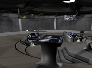 bridge uss 3d model