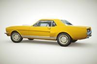 generic muscle-car car 3d 3ds