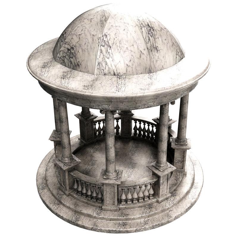 3d marble rotonda model