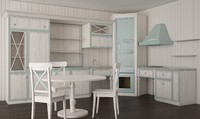 Shabby Chic Retro Vintage Kitchen