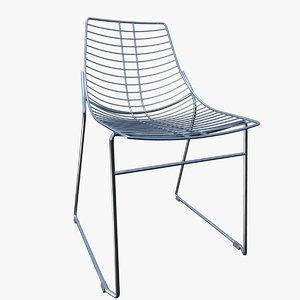 3d model of chair metalmobil net furniture
