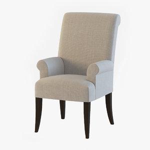 pottery barn comfort armchair 3d model