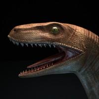 3d model velociraptor v-ray