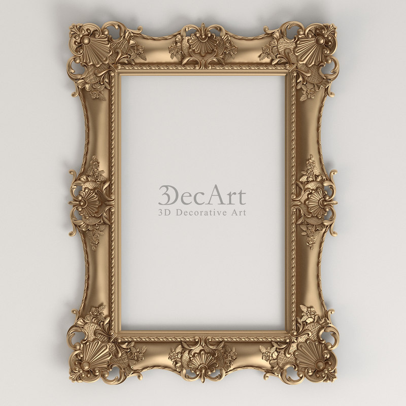 decorative frames 3d max