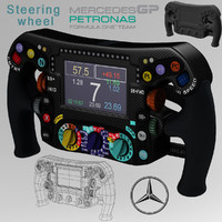 steering wheel mercedes w06 3ds