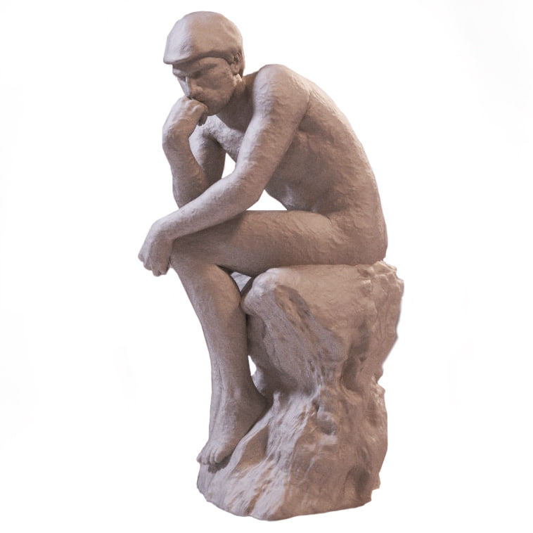obj greek statue thinker