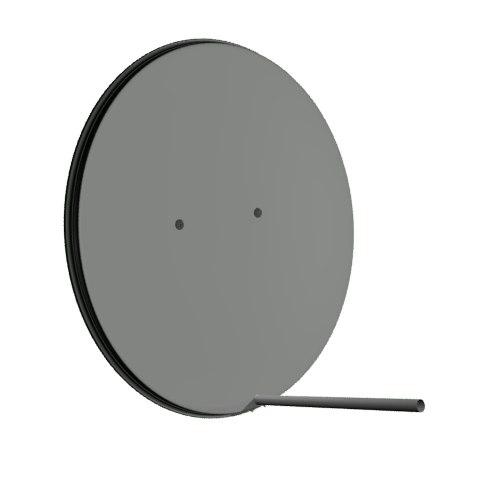 offset satellite dish 3d model