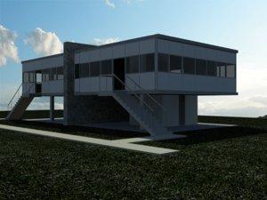 3d model le corbusier loucheur architect house