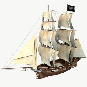old sail ship 3d model