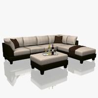 3d model sectional sofa set