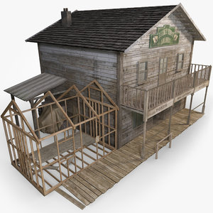 3d wild west saloon model
