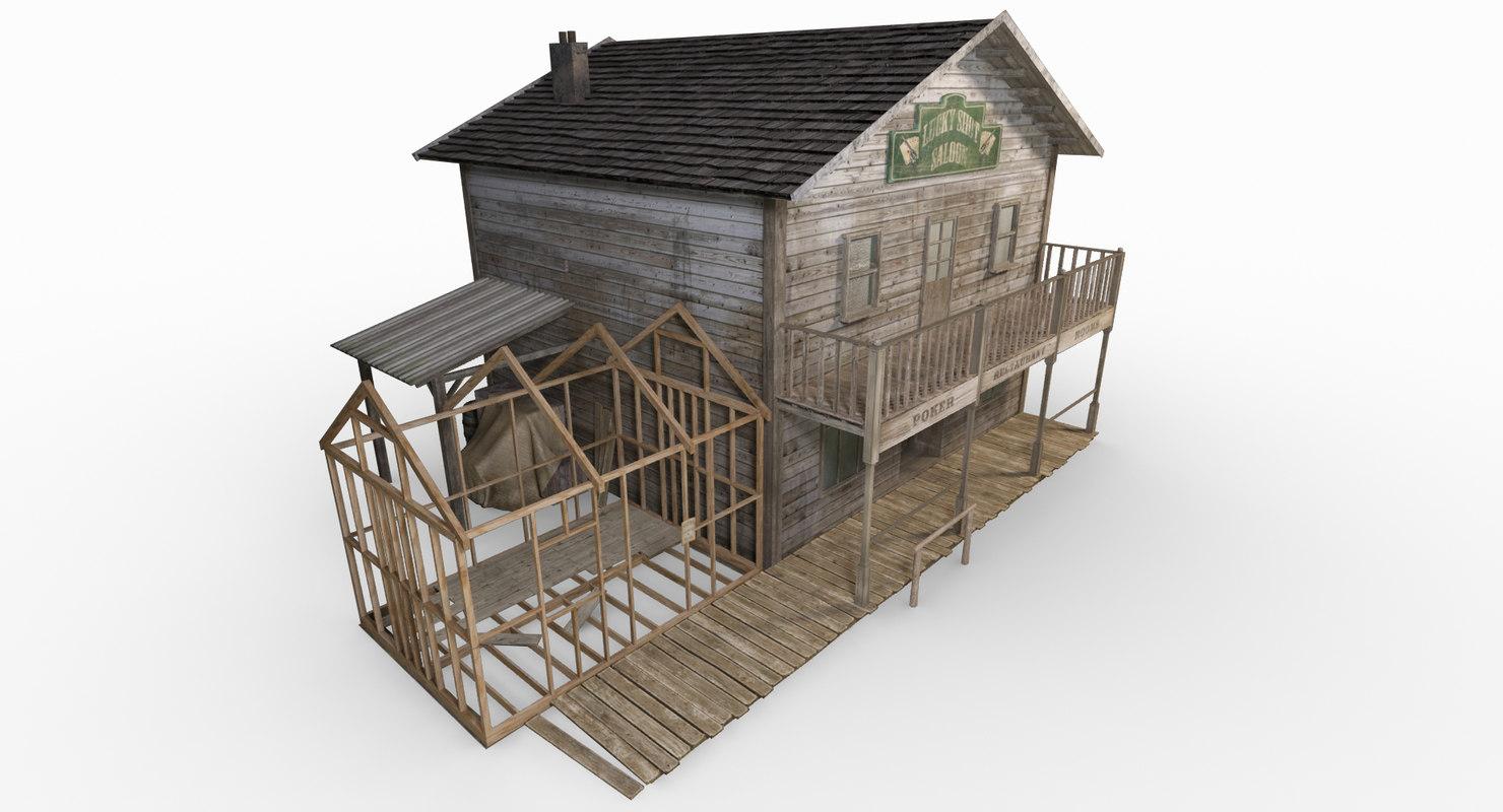 3d wild west saloon model