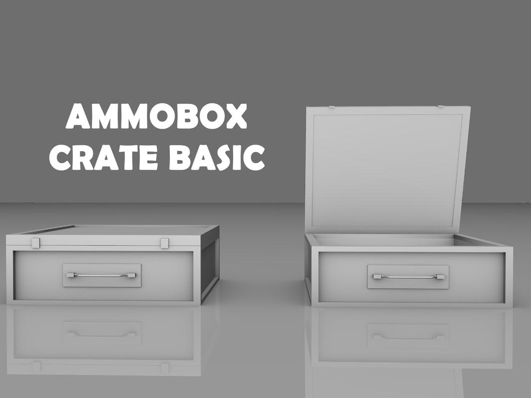 cinema4d crate basic ammo