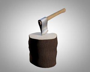 3ds wood axe