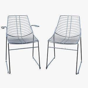 chair steel metalmobil net 3d model