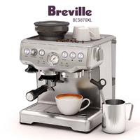 breville barista express bes870xl 3d model
