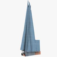 3d shard building model