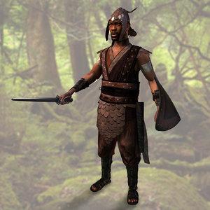 maya realistic warrior