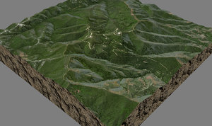 mesh tepusquet peak 3d model