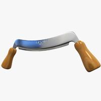 drawknife wood 3d model