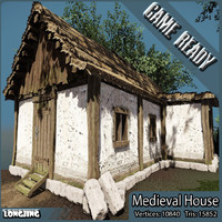 medieval house fantasy 3d model