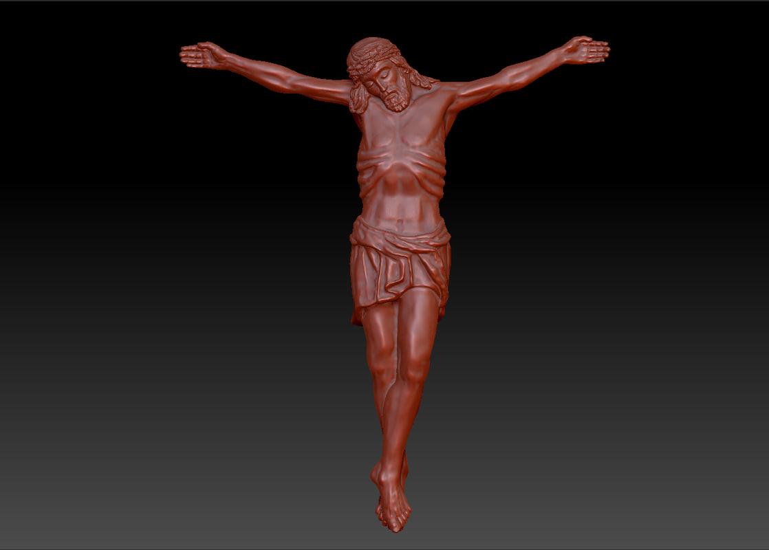 jesus crucifix obj