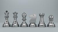 set chessmen 3d model