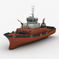 3d max tugboat tug boat