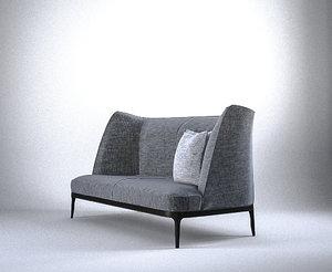 flexform mood sofa 3d lwo