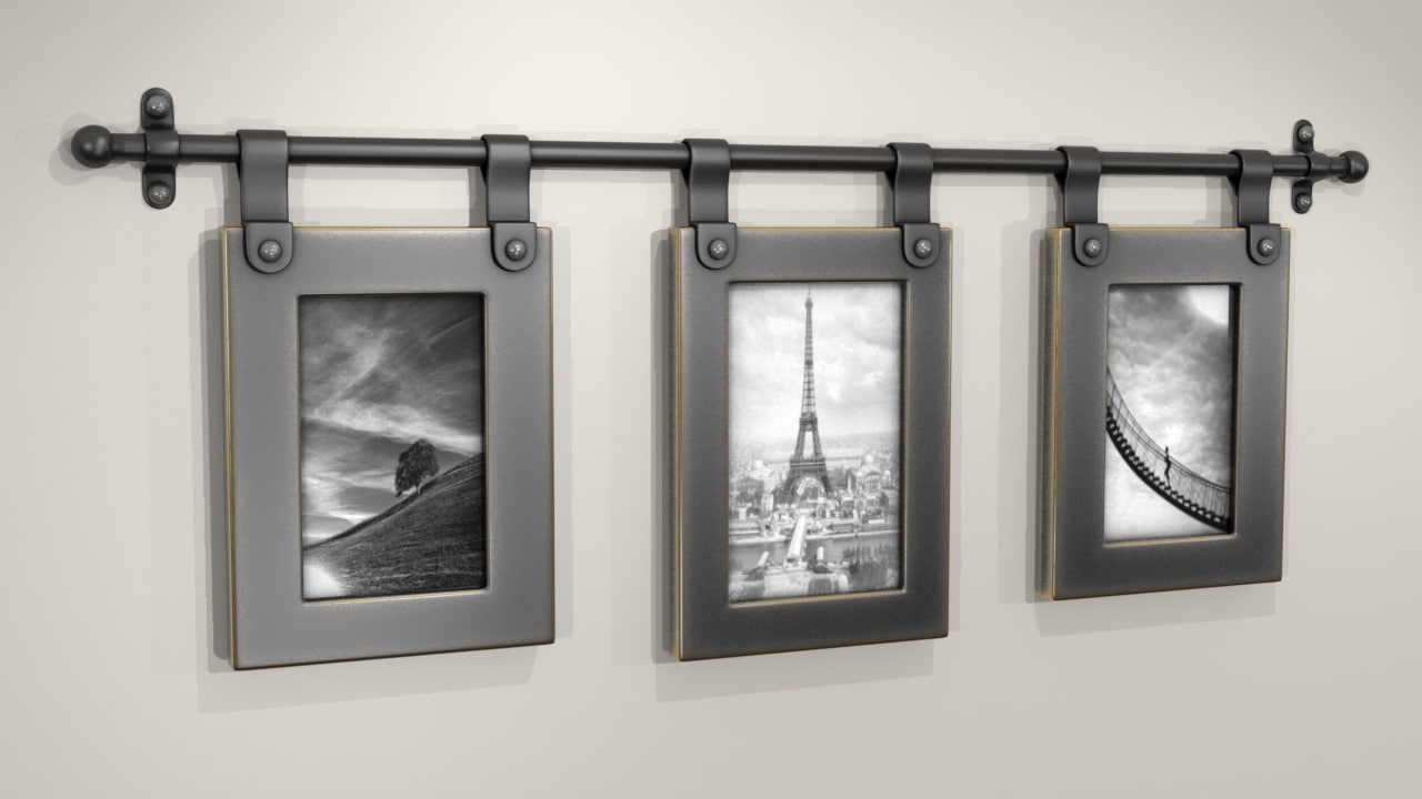 3d wall mounted picture frame model