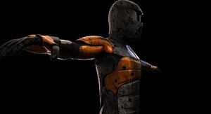 robot warrior 3d max