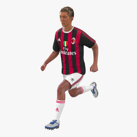 Soccer Player Milan Rigged 3D Model