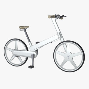 photoreal folding bicycle 3d model