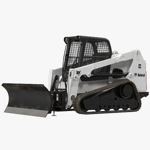 compact tracked loader bobcat 3d model
