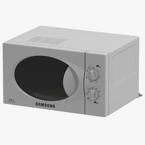 microwave oven samsung modeled 3d model